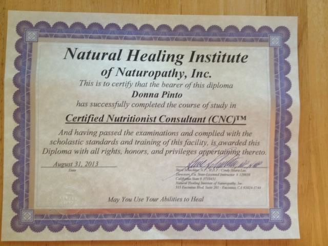 Nutrition Certification | DCIS 411
